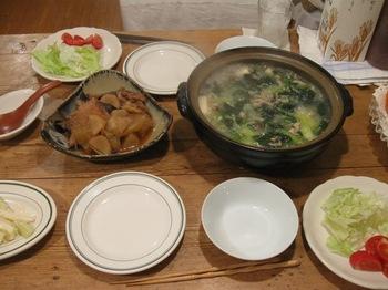 ほうれん草鍋とブリのアラ煮.jpg