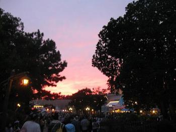 ディズニーランドが夕日に包まれて.jpg
