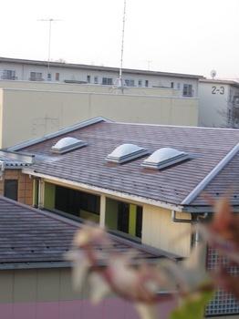 幼稚園の屋根に霜が降りた 冬到来.jpg