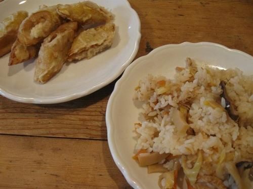 盛田さんからタケノコご飯とタケノコ天ぷら頂きました♪.jpg