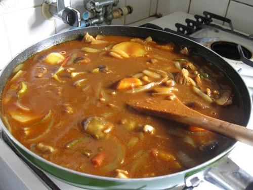 野菜たっぷりカレー♪フライパンで作っちゃった♪.jpg