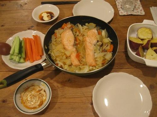 野菜と味噌味 ピリ辛 旨いな~.jpg
