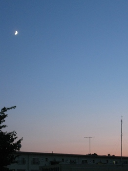 6時10分 ブルーモーメントの空に白い月.jpg